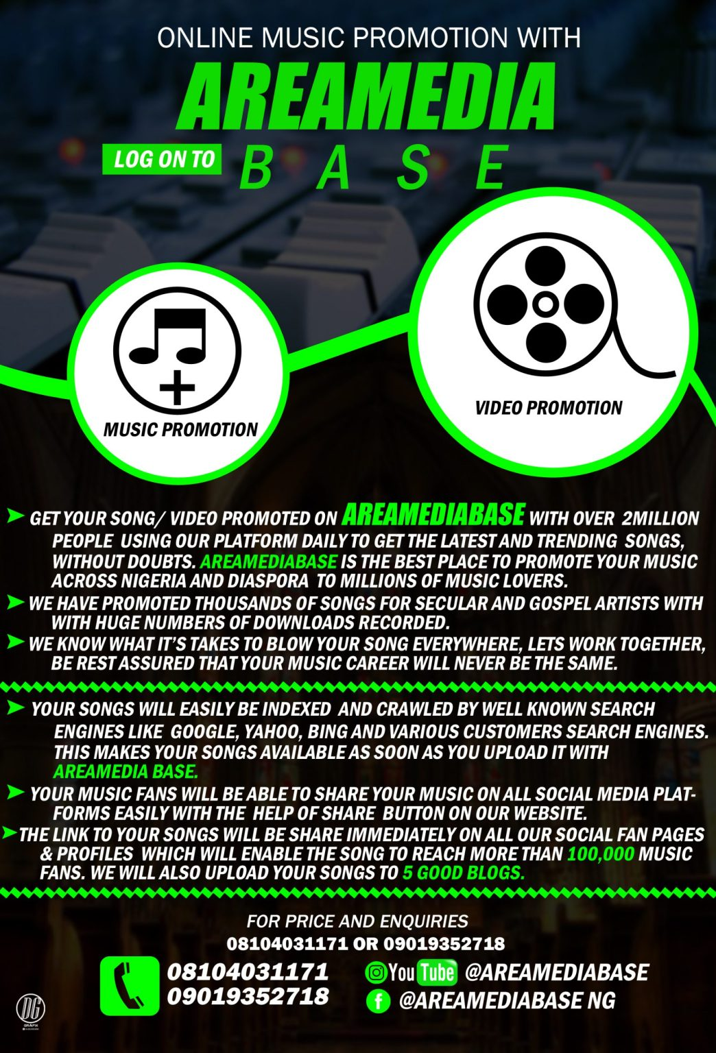 ONLINE MUSIC PROMOTION